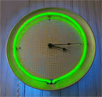 pizzaClocks, unique neon clocks