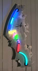 whimsyClocks, unique neon clocks